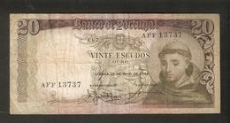 T. Portugal Vinte 20 Escudos Ouro Lisboa 1964 # AFF 13737 Santo Antonio - Portugal