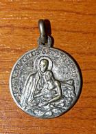 """Pendentif Médaille Religieuse """"Saint Camille De Lellis / Vierge à L'Enfant"""" Religious Medal - Religion & Esotérisme"""