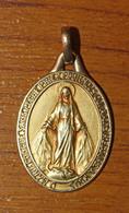 """Beau Pendentif Médaille Religieuse Oria """"Médaille Miraculeuse"""" Paris - Religious Medal - Religion & Esotérisme"""