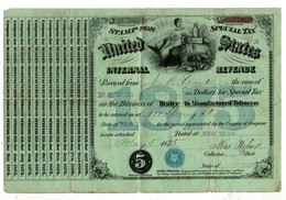 Internal Revenue New-York 1875 - Documents