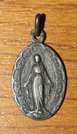 """Pendentif Médaille Religieuse Argent 800 """"Médaille Miraculeuse"""" Paris - Silver Religious Medal - Religion & Esotérisme"""