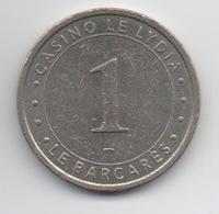 Jeton De Slot Machine à Sous : Casino Le Lydia, Le Barcares €1 (Partouche) - Casino