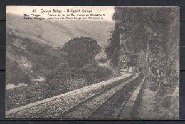 Congo Belge, Chemin De Fer Du Bas Congo Au Kilomètre 5, Entier Postal - Belgian Congo - Other