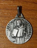 """Beau Pendentif Médaille Religieuse Uniface Argent 800 - Art Déco Année 30 """"Saint Benoit"""" Silver Religious Medal - Religion & Esotérisme"""