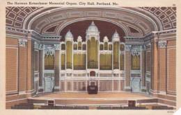 Maine Portland City Hall The Herman Kotzschmar Memorial Organ - Portland