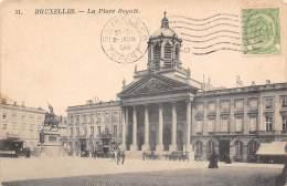 BRUXELLES - La Place Royale - Marktpleinen, Pleinen