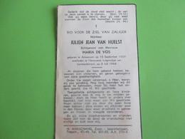 Civiel Oorlogsslachtoffer Van Huelst-echtgent.De Vos----° Antwerpen/overleden Hansweert. - Décès