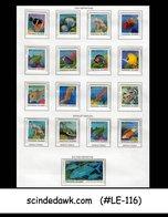 MARSHALL ISLANDS - 1988-89 FISH DEFINITIVES - 17V Complete Set MNH - Fishes