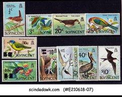 ST VINCENT - 1970-78 BIRDS With UPRATED STAMPS - 10V - MINT NH - St.Vincent (...-1979)