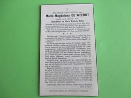 Oorlogsslachtoffer Maria Magdalena De Weerdt,dochter Van Jozef-Victor En M.Romanie Stock--geboren En Overleden Oostkamp. - Décès