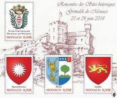 "Monaco 2018 - Bloc ""Sites Historiques Grimaldi De Monaco"" ** - Monaco"