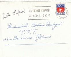 France 1967 Lettre De Besançon.Jolie Flamme Les Enfants Abandonnés Ont Besoin De Vous. Cachet Doubs. Timbre 1354B 1962- - France