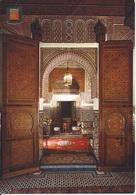 CPM   Maroc  Fes Intérieur Salon Arabe Hôtel Jamai - Fez (Fès)