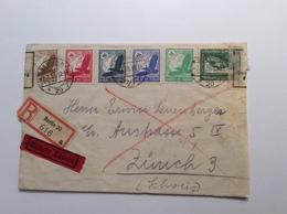 Deutsches Reich Berlin 1938 Eilboten DEVISENÜBERWACHUNG BAHNPOST Brief > Schweiz (cover Lettre Censure Devise - Covers & Documents
