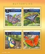 SOLOMON ISLANDS 2015 SHEET BUTTERFLIES PAPILLONS FARFALLE MARIPOSAS SCHMETTERLINGEN BORBOLETAS INSECTS Slm15508a - Solomon Islands (1978-...)
