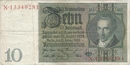 Bélgica (ocupación Alemana) - Belgium 10 Reichsmark 1945 Sello Eupen RARO Ref 800-2 - Sin Clasificación