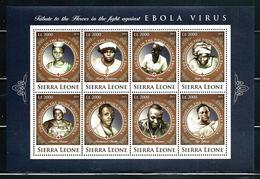 """Sierra Leone    """"Fight Against Ebola Virus""""        4 Sheets Of 8    SC# 3583-86    MNH     CV$ 56.00 - Sierra Leone (1961-...)"""