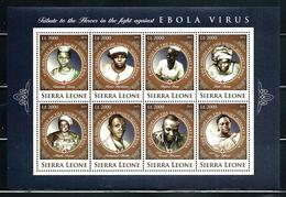 "Sierra Leone    ""Fight Against Ebola Virus""        4 Sheets Of 8    SC# 3583-86    MNH     CV$ 56.00 - Medicine"