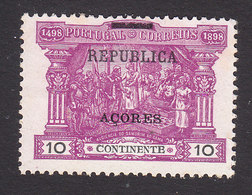 Azores, Scott #150, Mint No Gum, Postage Due Overprinted, Issued 1911 - Azores