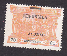 Azores, Scott #151, Mint No Gum, Postage Due Overprinted, Issued 1911 - Azoren