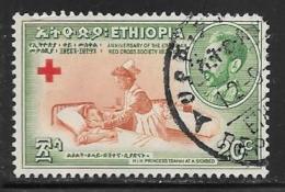 Ethiopia, Scott # 343 Used Red Cross, Nurse, 1955, Round Corner - Ethiopia