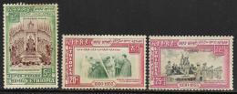 Ethiopia, Scott # 345-7 Unused No Gum  Silver Jubilee, 1955 - Ethiopia