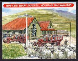GB ISLE OF MAN IOM - 1995 SNAEFELL MOUNTAIN RAILWAY ANNIVERSARY MINIATURE SHEET SG MS638 FINE MNH ** - Isle Of Man