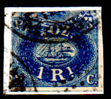 Peru-0005 - Emissione 1857 (o) Usato, Su Frammento - Difettoso In Alto. - Peru