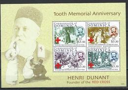 Dominica. Scott # 2757a-d, MNH Sheetlet Of 4. 100th Anniv. Of Henry Dunant 2010 - Dominica (1978-...)