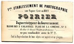 CARTE DE VISITE(PHOTOGRAPHE) BORDEAUX - Cartes De Visite