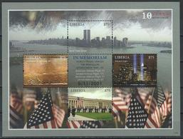 Liberia. Scott # 2768a-d, MNH  Sheetlet Of 4. In Memoriam Of New York 9-11-01. 2011 - Liberia