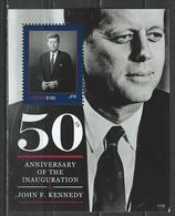 Liberia. Scott # 2709 MNH  S/sheet. 50th Anniv. Of The Inauguration Of President Kennedy. 2011 - Liberia