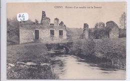 CHINY- RUINES D UN MOULIN SUR LA SEMOIS - Chiny