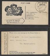 Over-Seas League Tobacco Fund, On Active Service, JALAPAHAR 20 JY 46 >Nqamakwe War Funds,Transkei S.Africa - 1936-47 King George VI