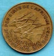 (r65)  ETATS AFRIQUE CENTRALE 25 Francs 1975 Km#10 - Centrafricaine (République)