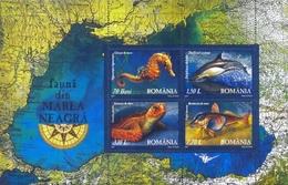 ROMANIA 2007 Marine Life Of Black Sea  Ss MNH - Blocks & Kleinbögen