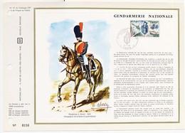 FDC Gendarmerie Nationale    31 Janvier 1970 à Paris Gendarme à Cheval 1845 Compagnie De La Seine  Haley - FDC
