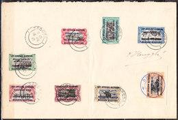 28/35  Timbres Du Congo Belge Surchargés EST AFRICAIN - Série Complète Oblit. Sur Enveloppe - LOOK!!!! - 1916-22: Used