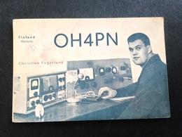 Finland  Amateur Radio Station Card   1963 - Finland
