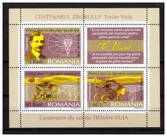 ROMANIA 2006 Centenary Of Flight Of Traian Vuia  MS MNH - Blocs-feuillets