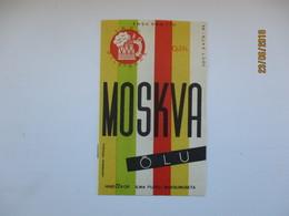 ESTONIA , OLD BEER LABEL , MOSKVA 0,33  , 0 - Bière
