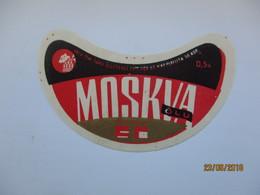 ESTONIA , OLD BEER LABEL , MOSKVA  0,5  , 0 - Bière