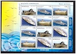 ROMANIA 2005 Warships MS   MNH - Blocs-feuillets