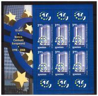 ROMANIA 2008 10 Years Central European Bank  MS   MNH - Blocks & Sheetlets