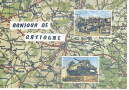 Bonjour De Bastogne Carte N°AS 10 D'après Carte Michelin N°4 Char Simca Aronde - Bastogne
