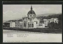 CPA Sarajewo, Vue Sur Evangelischen L'Église - Bosnia And Herzegovina