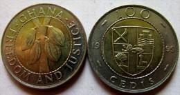 Ghana 100 Cedis 1999 BIMETAL UNC KM# 32 - Ghana