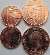 """New! Great Britain Set 2 Coins 2016 1+2 Pence """"5th Portrait""""  UNC - 1971-… : Decimal Coins"""