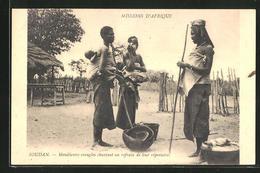 CPA Sudan / Soudan, Mendiantes Aveugles Chantant Un Refrain De Leur Répertoire - Cartes Postales