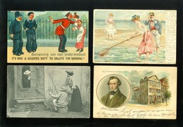 Beau Lot De 60 Cartes Postales De Fantaisie   Mooi Lot 60 Postkaarten Van Fantasie -  60 Scans - Postcards
